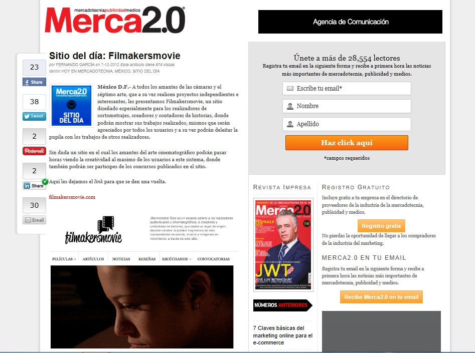 Filmakersmovie en Merca2.0