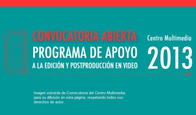 Programa de Apoyo a la Edición y Postproducción de Video   Cenart