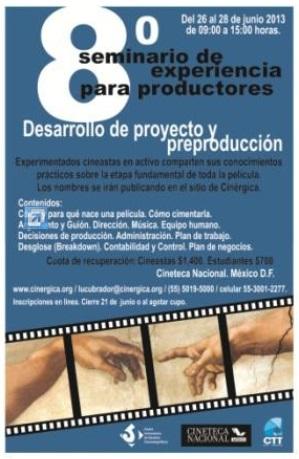 8° Seminario de Experiencia para Productores | Cinergica | CUEC