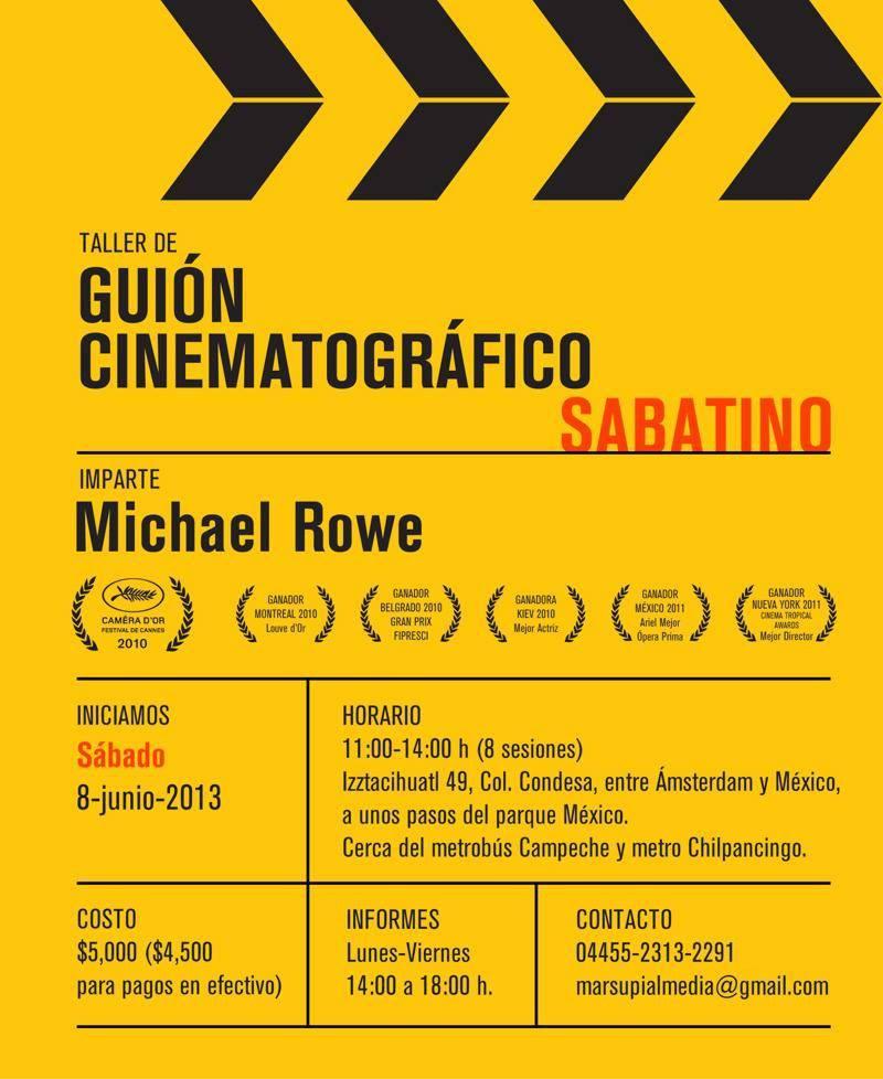 Taller de Guión Cinematográfico | Michael Rowe