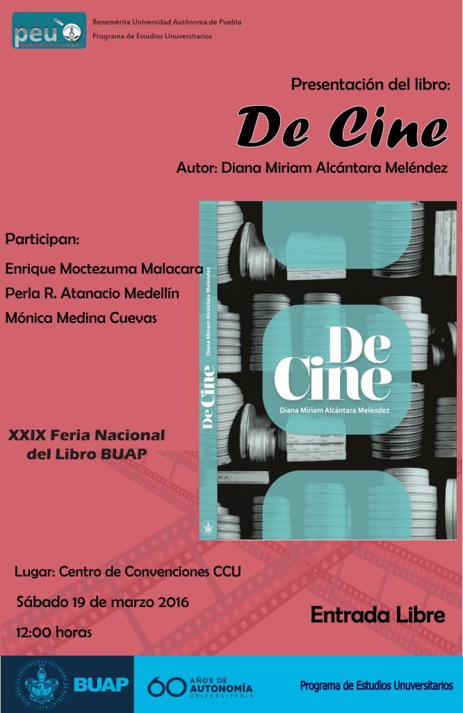 "Invitación a presentación ""De Cine"""